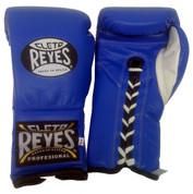 Cleto Reyes Training Gloves With laces and attached thumb - Blue