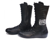 Cleto Reyes Leather High Top Boxing Shoes - Black