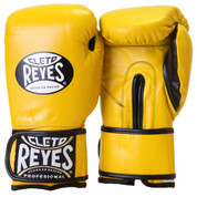 Cleto Reyes Professional Training Boxing Gloves with Velcro - Yellow