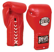 Cleto Reyes Professional Training Gloves - Lace up - Red
