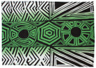 Tunga Tea Towel - Black Green and White