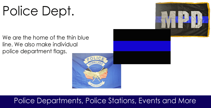Police Department Flags