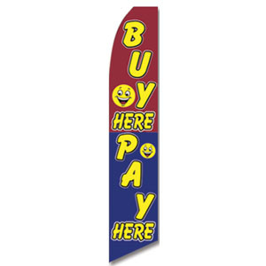 Buy/Pay Here Feather Flag