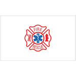 Fire Rescue Maltese Cross Flag