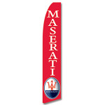 Maserati (Red) Feather Flag