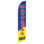 Mattress Sale (Navy/Yellow) Feather Flag