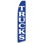 Trucks- White and Blue -Feather Flag
