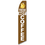 Fresh Hot Coffee Feather Flag