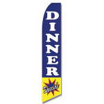 Dinner Special Feather Flag