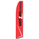 Verizon Wireless (Red) Feather Flag