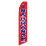 Insurance (Blue and Red) Feather Flag