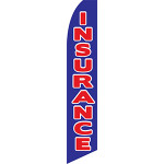 Insurance (Red and Blue) Feather Flag