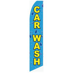 Car Wash - Bubbles - Feather Flag
