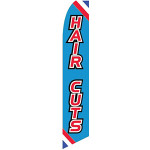 Haircuts Feather Flag