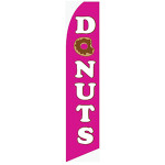 Donuts Feather Flag