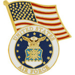 Air Force / US flag lapel pin #2