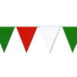 Red, White, Green string pennant