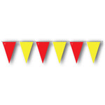 Red and Yellow string pennant