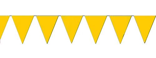 Yellow string pennant