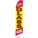 Auto Glass Here Feather Flag