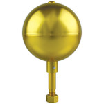 Gold Aluminum Ball Ornament