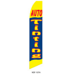 Auto Tinting Feather Flag blue yellow