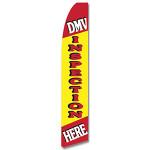 DMV Inspection Feather Flag
