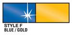 Blue and Gold Metallic Streamer