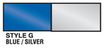 Blue and Silver Metallic Streamer