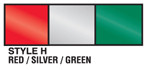 Red, Silver and Green Metallic Streamer