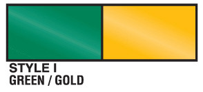 Green and Gold metallic streamer
