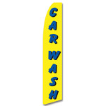 Car Wash- Yellow/Blue -Feather Flag