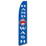 Hand Wash- Blue/White -Feather Flag