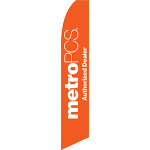 Metro PCS Authorized Dealer (Orange) Feather Flag