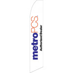 Metro PCS Authorized Dealer (White) Feather Flag