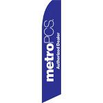 Metro PCS Authorized Dealer (Purple) Feather Flag