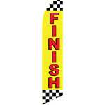 """Finish"" Feather Flag"