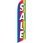 Rainbow Sale Feather Flag