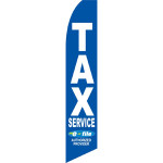 Blue Tax Service E-File Feather Flag