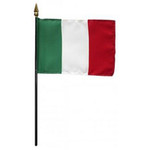 "Italy - Minature 4"" x 6"" Stick Flag"