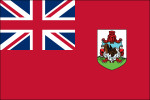 "Bermuda - 4"" x 6"" Miniature Stick Flag"