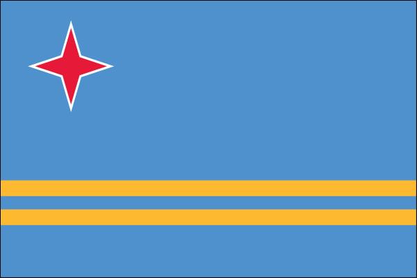 "Aruba - 4"" x 6"" Minature Stick Flags"