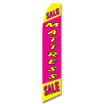 Mattress Sale - Pink and Yellow - Feather Flag