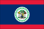 "Belize - 4"" x 6"" Minature Stick Flags"