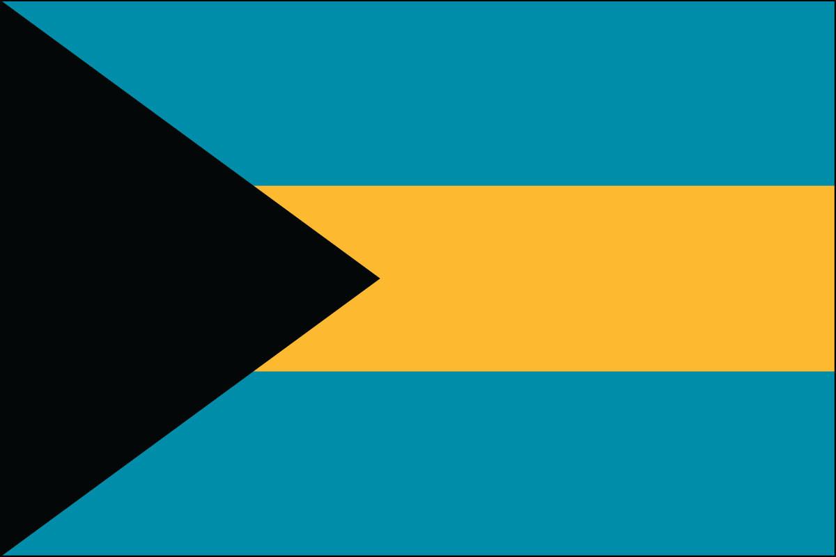 "Bahamas - 4"" x 6"" Minature Stick Flags"