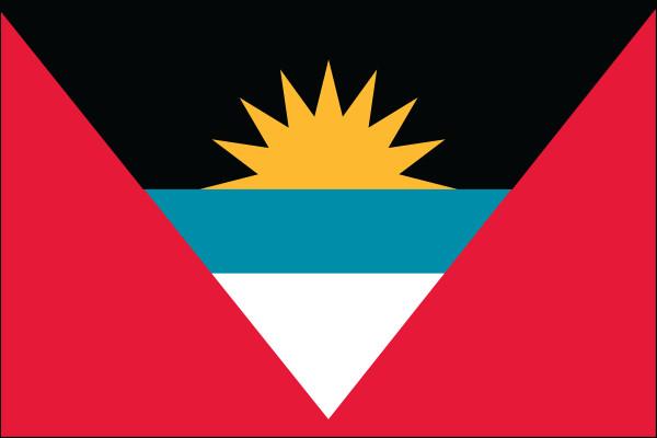 "Antigua & Barbuda - 4"" x 6"" Minature Stick Flags"