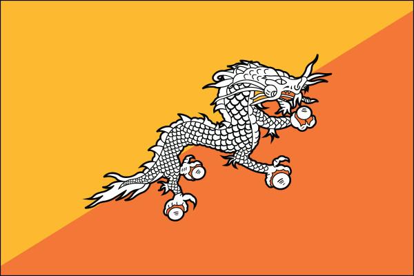 "Bhutan - 4"" x 6"" Minature Stick Flags"