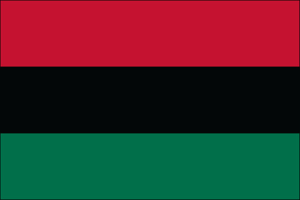 """Afro American - 4"""" x 6"""" Minature Stick Flags"""