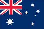 "Australia - 4"" x 6"" Minature Stick Flags"