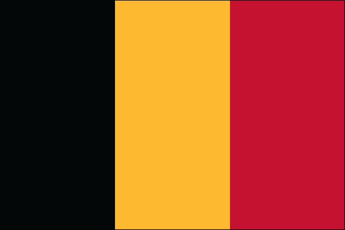 """Belgium - 4"""" x 6"""" Minature Stick Flags"""